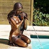 Gartentraum Bronze Gartenfigur mit Frau als Wasserspeier - Kyra, Bronze