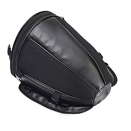 LALEO Multifunzionale Impermeabile Borsa da Moto PU Pelle, Sport Borsa da Sella Borsa per Sedile Posteriore Nero