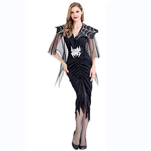 Fashion-Cos1 Halloween Mädchen Hexe Geist Braut Königin Vampir Kostüm Frauen Spinne Kostüm Maskerade Rollenspiel Uniform Cosplay (Size : M) (Halloween Kostüm Braut Spinne)