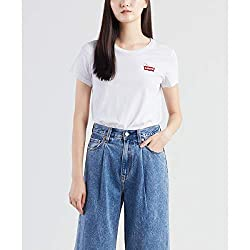 Levis The Perfect Tee Peanuts Housemark Chest XS