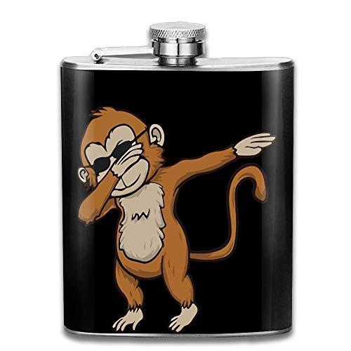 Presock Flachmann,Funny Dabbing Monkey with Sunglasses Gifts Top Shelf Flasks Stainless Steel Flask 7 OZ for Men Women