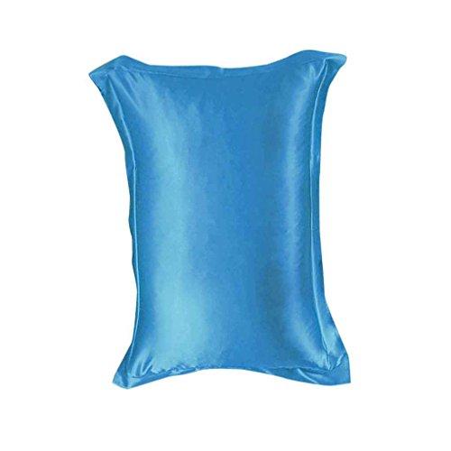 ELENXS Neuer Solid Color Emulation Silk Pillowcase Bedding Reiner Einzelkissenbezug Innerer Schutz See Blau -