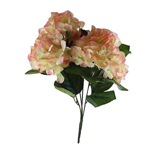 Better & Best Ramo de 5 hortensias Artificiales, Grandes, Color Rosa, Tela/plastico, 46.00×30.00×30.00 cm