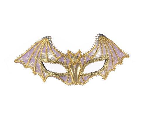 Forum Novelties Inc. Forum Mardi Gras Spider Hälfte Maske, Schwarz, Eine Größe Gr. Einheitsgröße, Gold (Mardi-gras-masken Traditionellen Den)