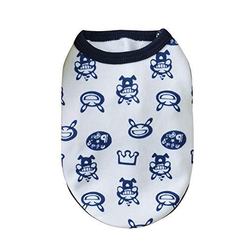 F-dujin Weiche Haustier-Hundekatze Weste, nettes Haustier Kleidung Baumwollweste-Welpen-Kostüm, Welpenhemden Weste-Haustier-Kleid für kleinen Hund im ()