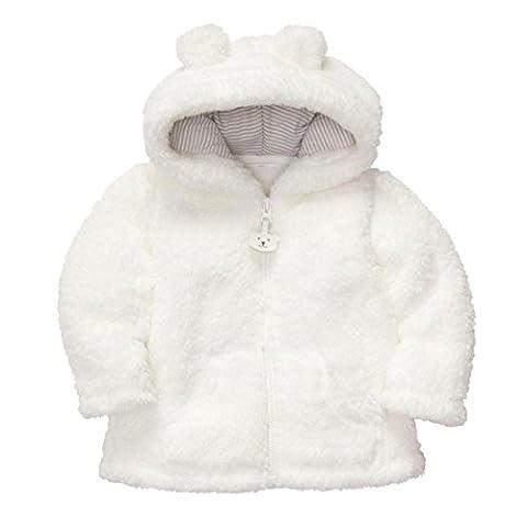 Koly Hoodie, mit dicker Kapuze, für Junge oder Mädchen, warme Winterkleidung 70 weiß