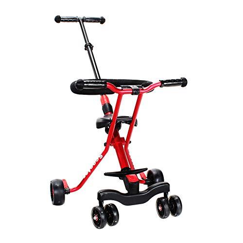 Bici per bambini guo shop- triciclo per bambini leggero pieghevole pieghevole da 6 giri passeggino per bambini (colore : red)