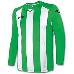 Joma 1202.99 Camiseta Manga Larga, Hombre, Multicolor (Verde/Blanco), 6-8