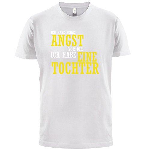 ICH FÜRCHTE MICH NICHT VOR DIR, ICH HABE EINE TOCHTER - Herren T-Shirt - 12 Farben Weiß