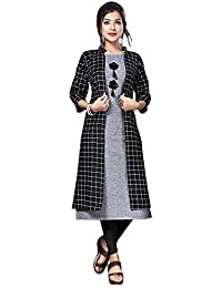 Women's A-Line Cotton Kurti with Shrug by anushansa