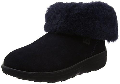 FitFlop Damen Mukluk Shorty 2 Boots Kurzschaft Stiefel, Blau (Supernavy), 40 EU (Damen Mukluk)