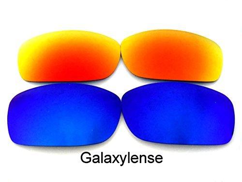 Galaxis Ersatzgläser für Oakley Fives Squared Titan Farbe Polarisierend - Blau & Rot