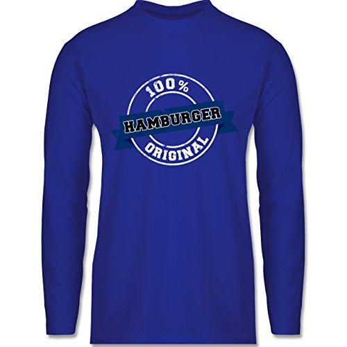 Shirtracer Länder - Hamburger Original - Herren Langarmshirt Royalblau