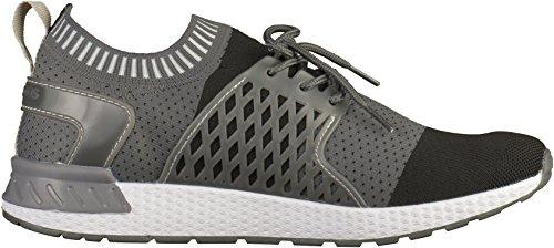 KangaROOS 79013 Herren Sneakers Grau(Schwarz/Grau)