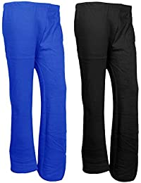 Indistar Womens Warm Woolen Full Length Palazo Pants For Winters_Free Size_Blue/Black