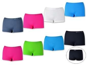 5, 10, 20 oder 30 Stück Damen Pantys Hotpants Panties Hipster Slips Hot Pants Microfaser - Schwarz Weiß Rot Grün Blau Pink - Krone (34/36, 10 Stück - Farbmix)
