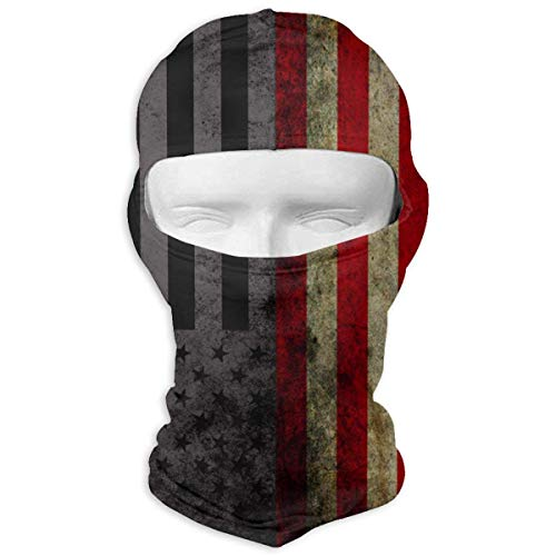 Vintage Thin Blue Line American Flag Winter Motorcycle Full Face Mask Windproof Head Hood for Men and Women Fashion4 -