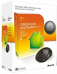 Microsoft Office Home & Student 2010 (3 Users) & Microsoft Wireless Mobile Mouse 4000 Bundle (Pc)