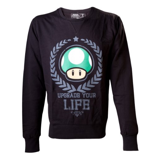 Nintendo Sudadera Mushroom Seta 1UP Upgrade Your Life tamaño L –