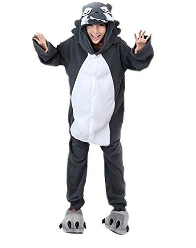 Keral Cosplay Kostüme Tierkostüme Erwachsene Pyjamas Kostüm Pyjamas Wolf Größe XL