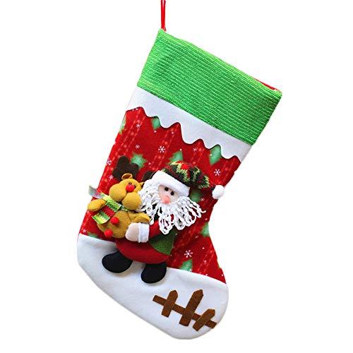 Weihnachtsbaum Socken hängende Dekoration,Wawer Weihnachtssankt Süßigkeiten Tasche...