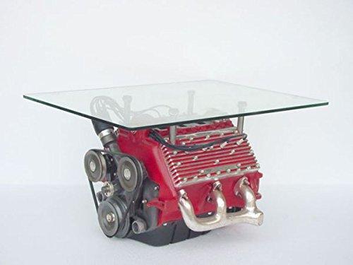Bloc moteur V8 comme table 60 cm picorent pour extérieur en fibre de verre haute qualité plastique (GFK)