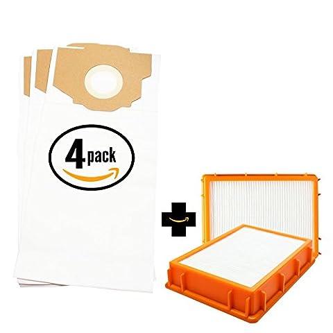 12 Replacement Eureka 4870AT Vacuum Bags & 2 HEPA Filter