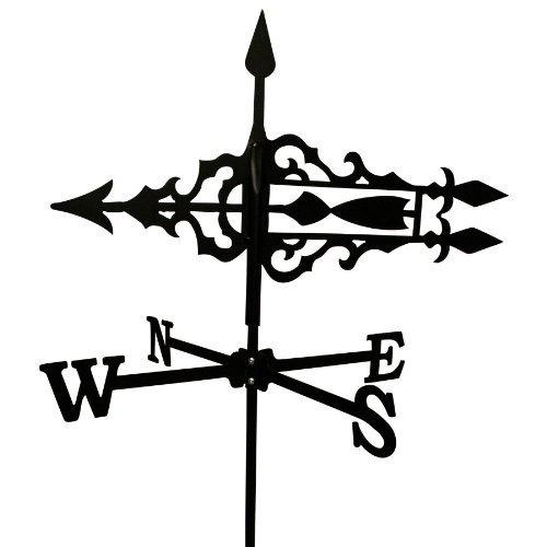 Wetterfahne 51,5x68,5cm Motiv Pfeil klein schwarz Stahl Windspiel Windfahne Stabfahne