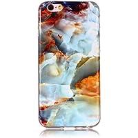 BONROY iPhone 6 Plus/6S Plus (5.5 Zoll) Marmor Hülle, Silikon Handyhülle Schlank TPU - (YH-Feuerwolkenmarmor)