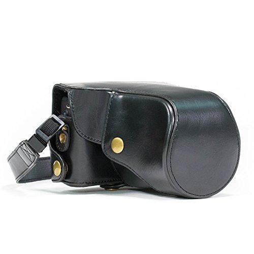 """MegaGear""""Ever Ready"""" Schwarz Leder Kamera, Tasche für Canon Eos M, Canon Eos M 2"""