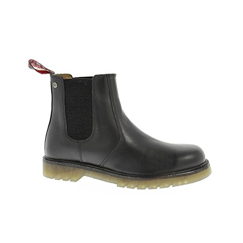 Barratts Mens HX01 Black Leather Chelsea Boot 9