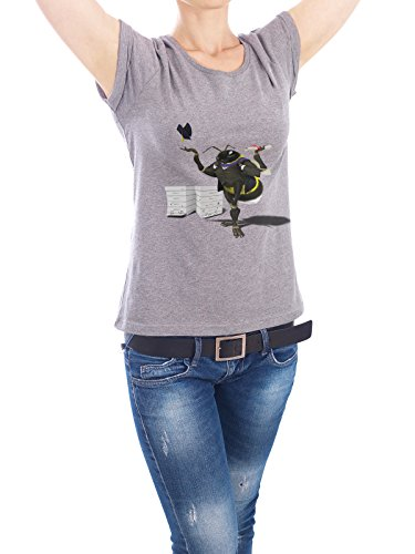 "Design T-Shirt Frauen Earth Positive ""To Bee or Not Too Bee (wordless)"" - stylisches Shirt Tiere Natur von Rob Snow Grau"