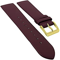 Minott watch strap | Spare Leather Strap for Screwing; SUITABLE FOR Skagen 29698, Bridge size 22 mm, Clasp Width: Golden