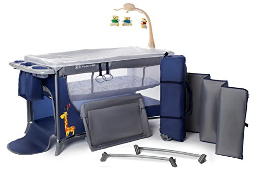 Kinderkraft Joy Travel Cot Crib Folding Bed with Accessories, Navy 41sUFXjb0ZL