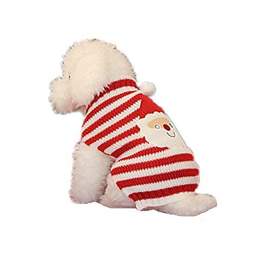 AMURAO Weihnachten Haustier Hund Stricken HKeln Pullover,Kostüm für Golden Retriever Großen Hund Mantel Jacke Kleidung