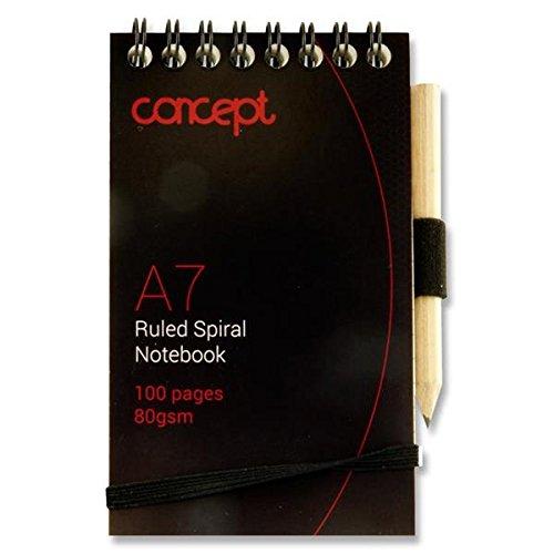 oncept A7100Seiten Spirale Pocket Notebook mit Bleistift (Spirale Notebook)