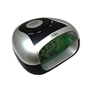 Reflex Black And Silver Digital Talking Alarm Clock 908-3103