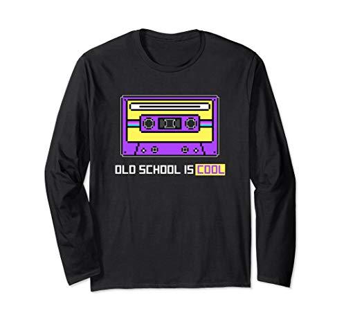 Girl Armee Retro Kostüm Small - Kassetten- alte Schule ist coole 8-Bit pixel kunst 80er  Langarmshirt