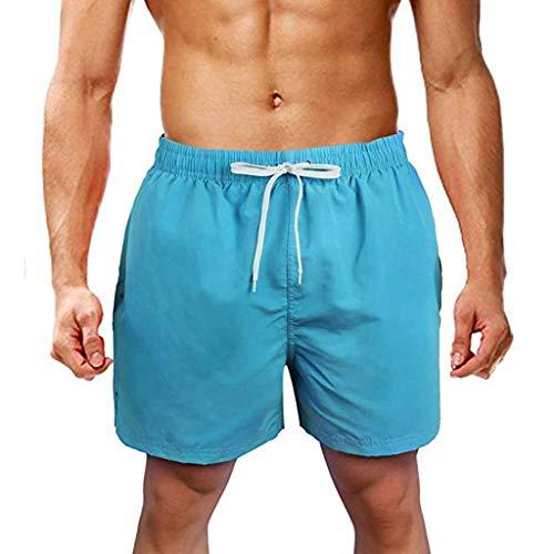 Alaso Badehose für Herren Jungen Badeshorts für Männer Kurz Vielfarbig Schnelltrocknend Beachshorts Boardshorts Strand Shorts Trainingshose Kordelzug -