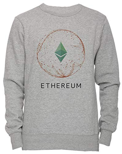 Erido Ethereum Revolution Blockchain Hombre Camiseta Cuello Redondo Gris Manga Corta Tamaño XXL Men's Women's Jumper Grey XX-Large Size XXL