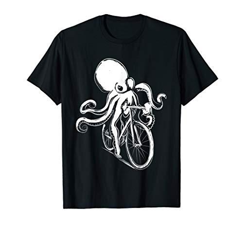 Strand Kleidung Kraken Octopus Bild Fahrrad Tintenfisch T-Shirt
