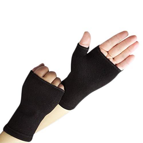 Handschuhe, ultra dünne breathable Mann Frauen halbe Finger Handschuhe elastische Handgelenk Unterstützungs Arthritis Klammer Hülsen Stützsport absorbieren Schweiß -