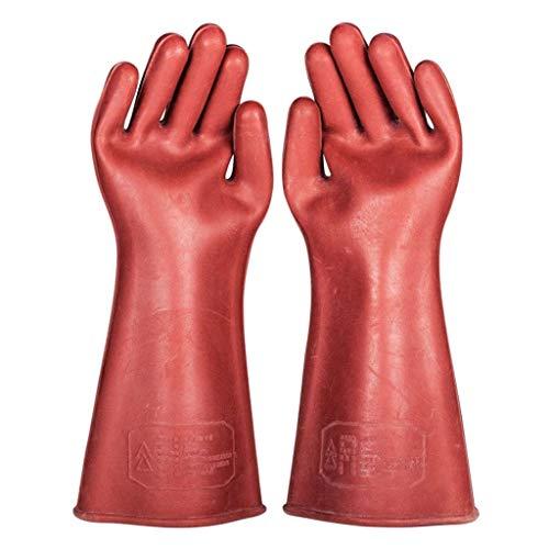LQQFF Arbeitshandschuhe Isolierhandschuhe 12KV Gummi Hochspannung elektrische Arbeit Wartung Power System spezielle Anti-elektrische Handschuhe Sicherheit Schutz tragen Mechanische Handschuhe