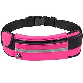 YHLCSQ Runners Running Belt for iPhone 7 X 8 6 Plus Men Women Phone Holder Pouch Waist Pack Bag for Workout Fitness Walking Marathon Invisible Money Belt (hotpink)