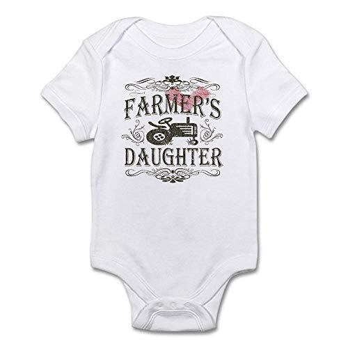 ler mit kurzen Ärmeln und Aufschrift Farmer's Daughter Gr. 50, weiß ()