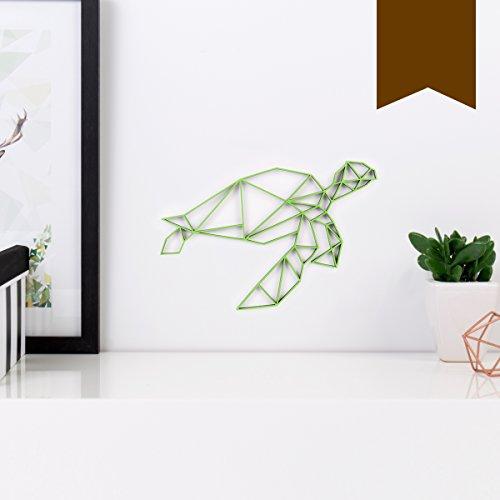 KLEINLAUT 3D-Origamis aus Holz - Wähle Ein Motiv & Farbe - Schildkröte - 10 x 8,5 cm (S) - Braun