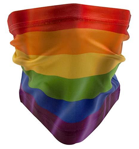 WABISABI DREAMS Gay Pride LGTB GAMASCHE   Regenbogen-Stolz Homosexuell   Regenbogen   Unisex Multifunktionstuch für Kopf, Nacken, Schal oder Stirnband
