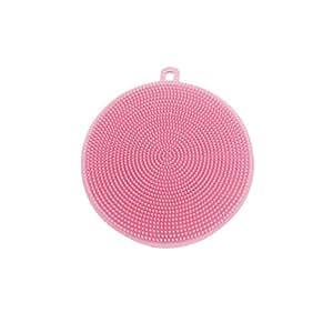 Simplefirst Spülschwamm aus Silikon antibakterieller Silikongeschirrspüler Waschbürste für Obst und Gemüse Runder Spüler Unterlage Allzwecksilikongeschirrspülwerkzeuge für die Küche