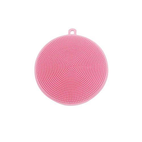 Matte Küche Trocknung (Simplefirst Spülschwamm aus Silikon antibakterieller Silikongeschirrspüler Waschbürste für Obst und Gemüse Runder Spüler Unterlage Allzwecksilikongeschirrspülwerkzeuge für die Küche)