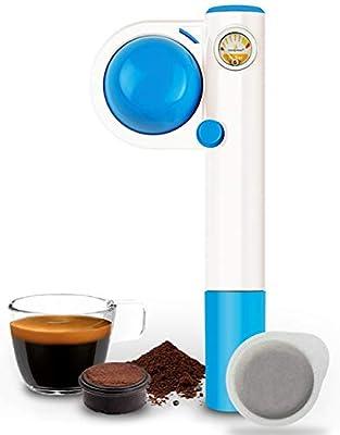 Handpresso Pump Pop for ESE Pods and Ground Coffee, Blue
